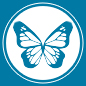 A stylized version of monarch wings forms the Xerces Society's endangered species program icon.